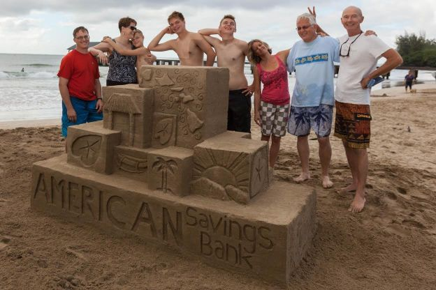 A sand sculpture created by all these folks. Photo by Kit Furderer of KinebyDesign.com